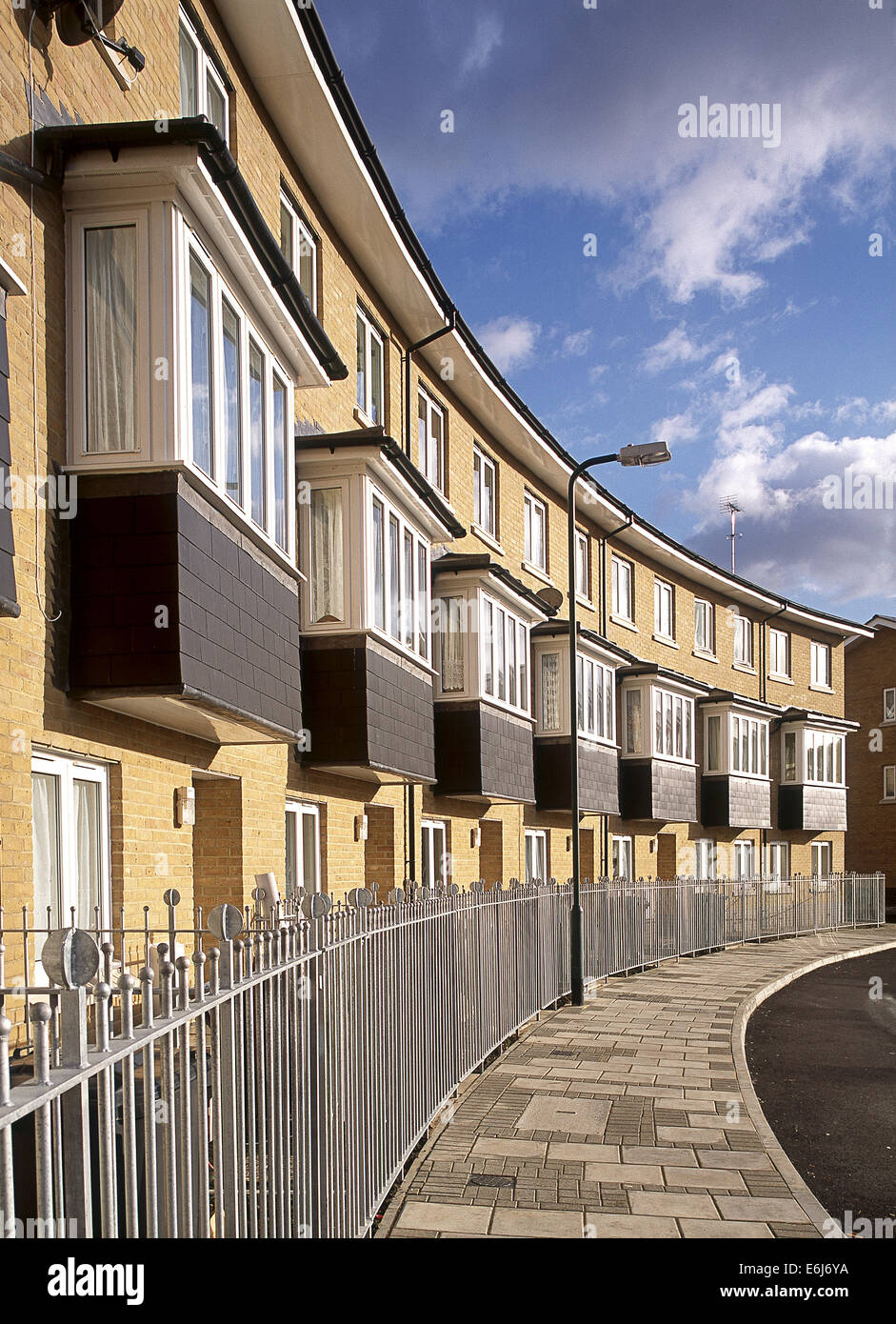 Terraced housing in Neasden, London. Stock Photo