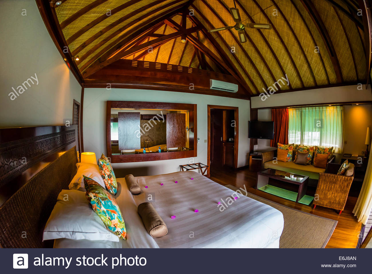 Interior View Of A King Panoramic Overwater Bungalow Hilton