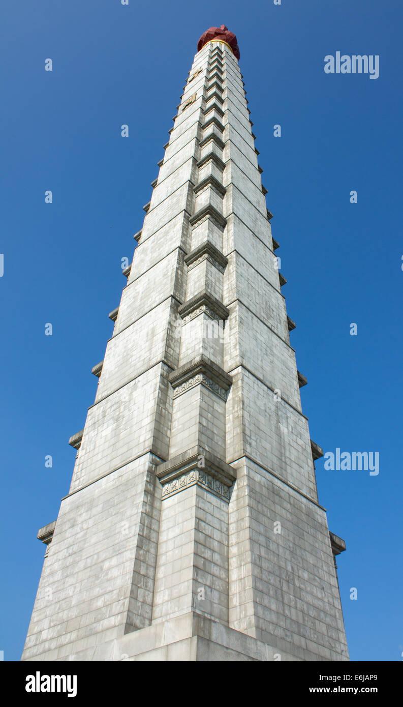Tower of the Juche Idea. North Korea - Stock Image