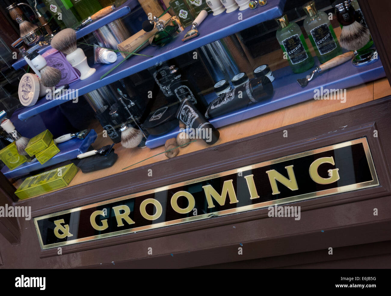Geo. F. Trumper Gentleman's barbers and perfumers shop, Duke of York St, Mayfair, London, England UK - Stock Image