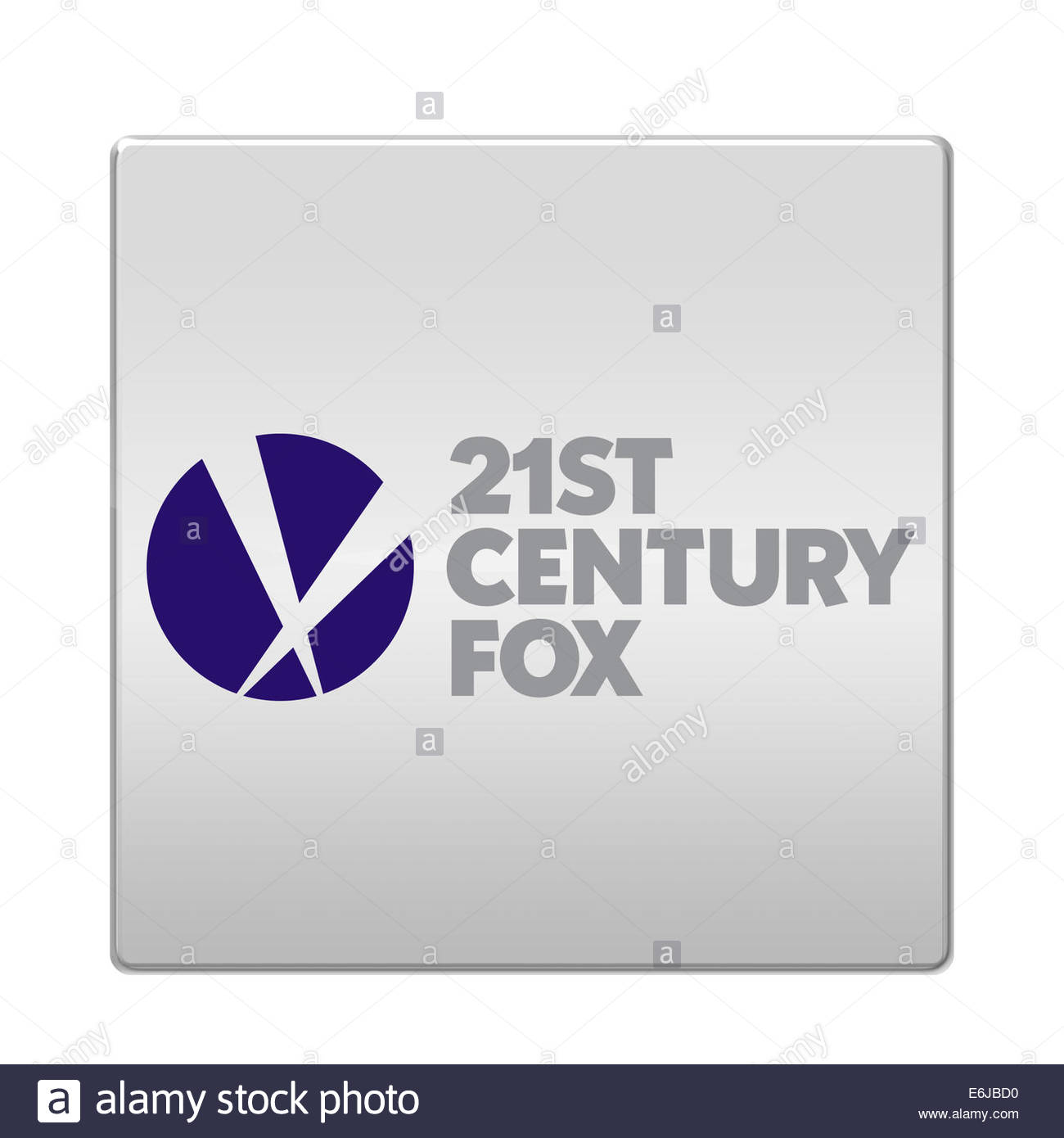 21st Century Fox logo icon isolated app button - Stock Image