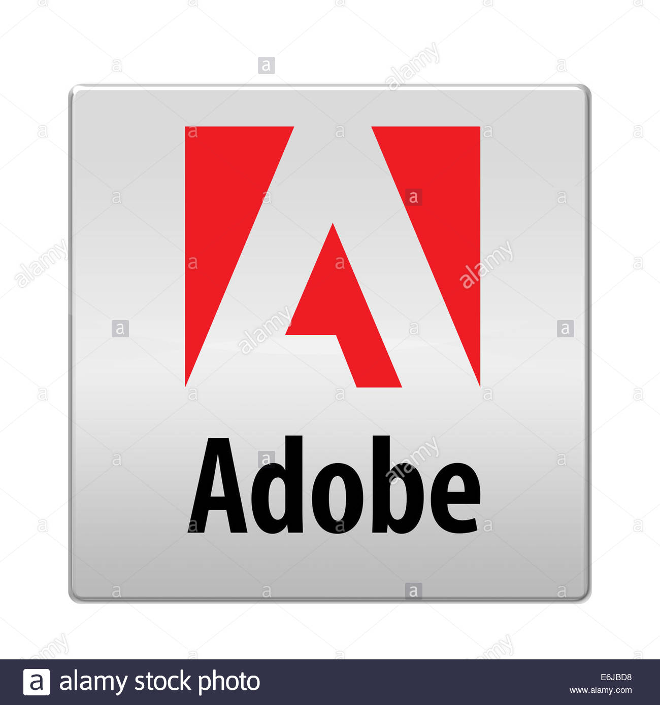 Adobe Systems logo icon isolated app button - Stock Image