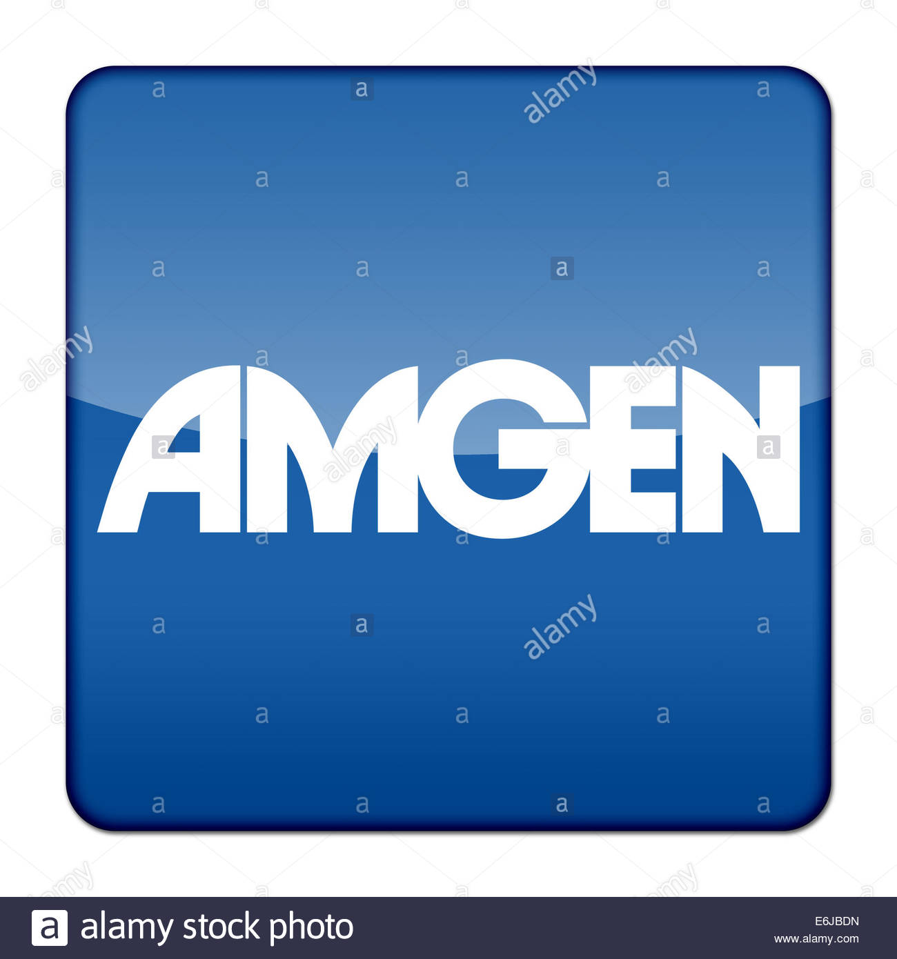 Amgen logo icon isolated app button Stock Photo: 72933553