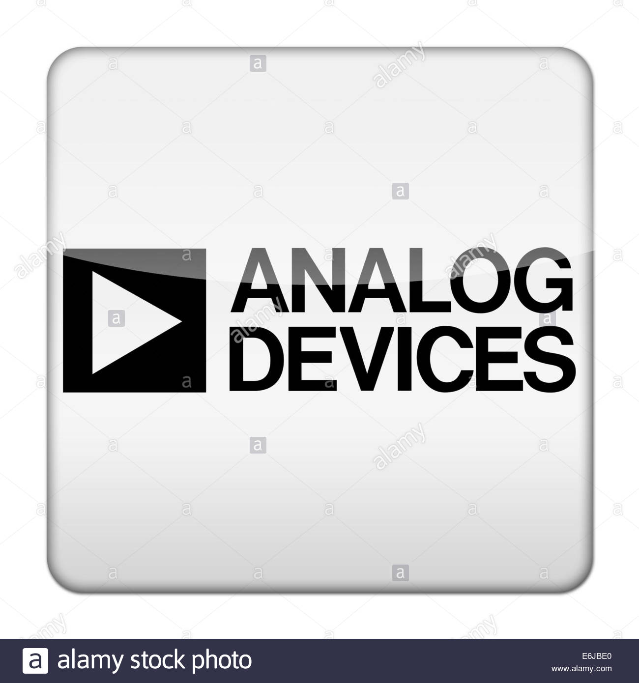 Analog Devices logo icon isolated app button - Stock Image