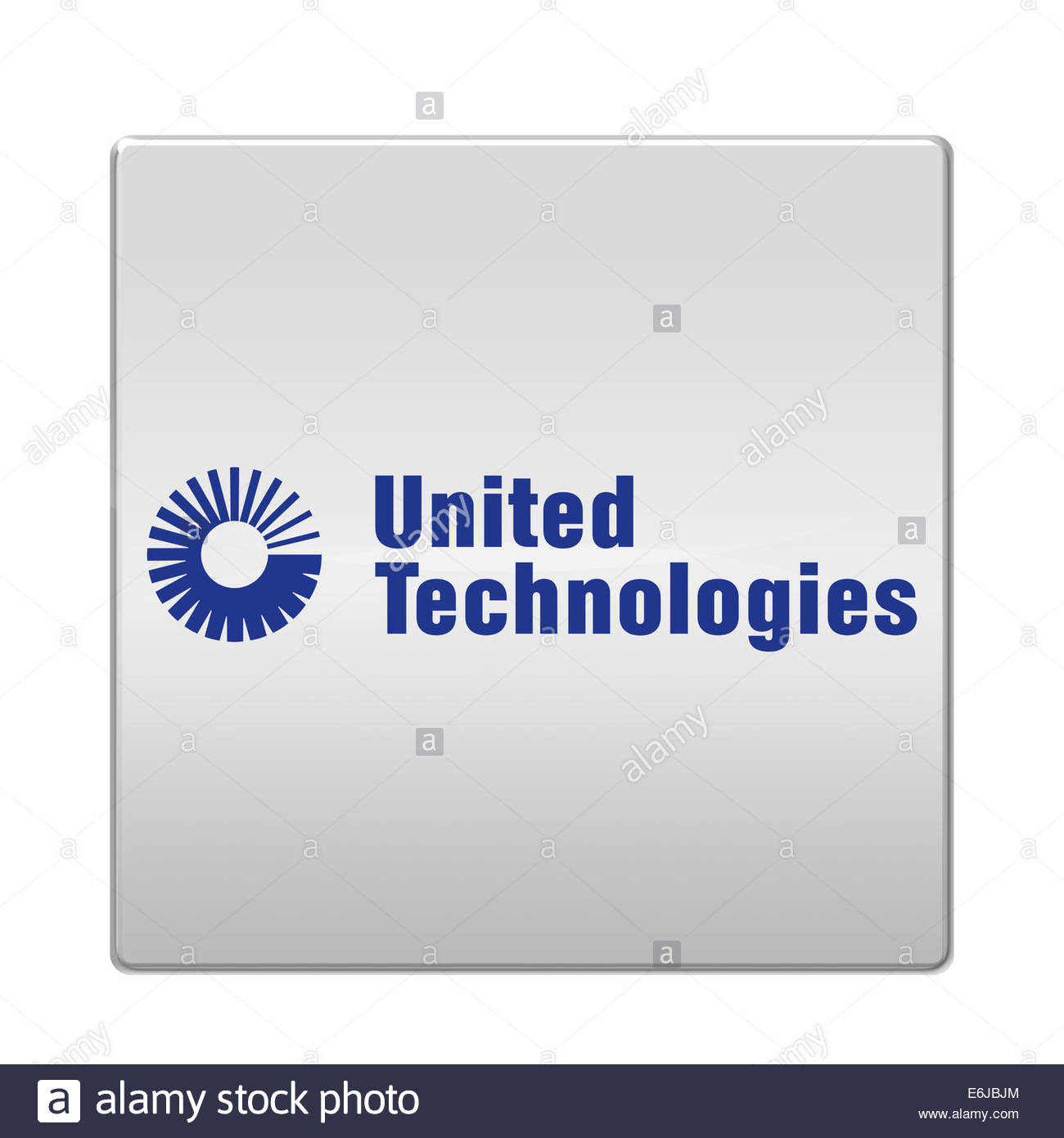 United Technologies Corporation logo icon isolated app button - Stock Image