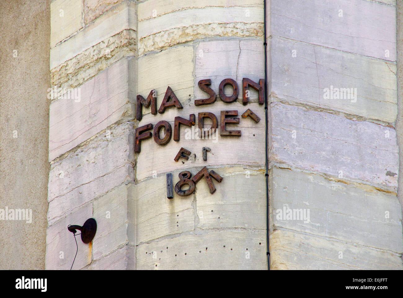 Broken sign in Dijon France Stock Photo