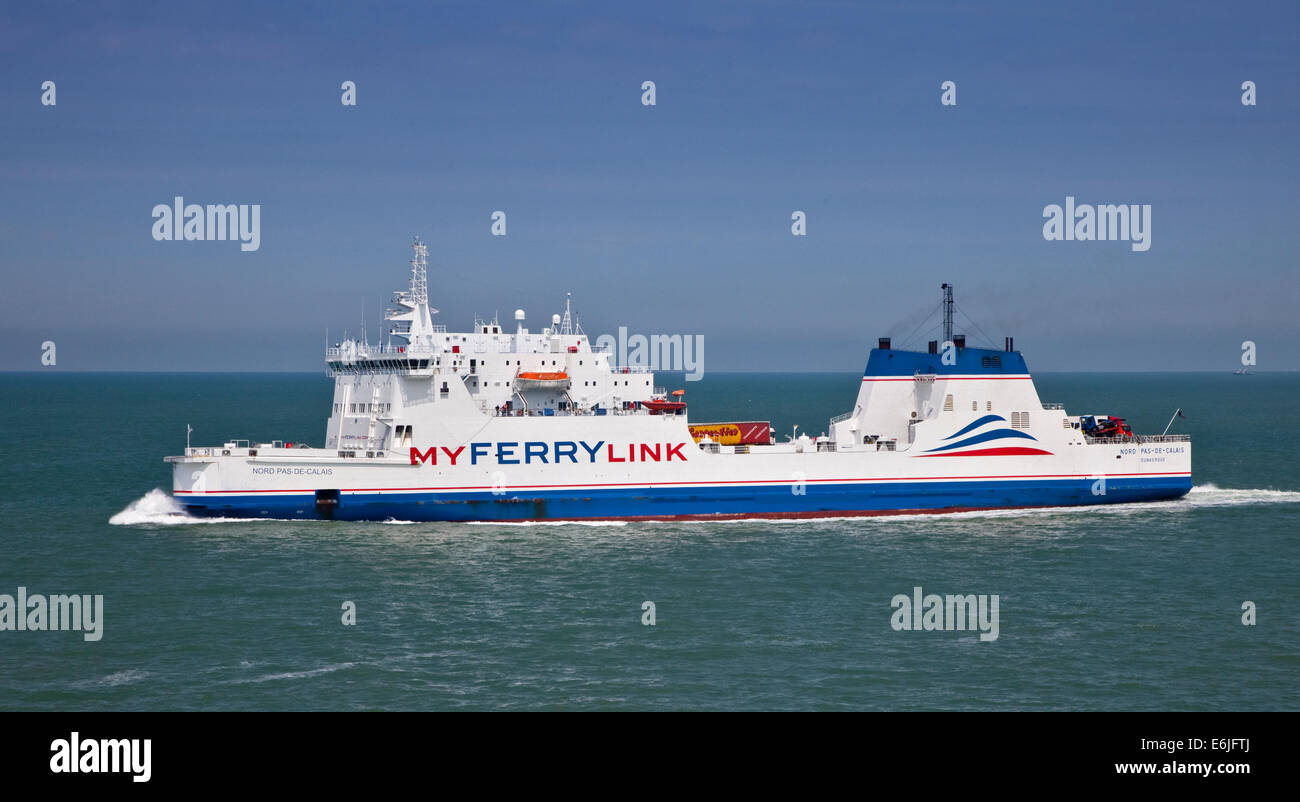 Nord Pas de Calais My Ferry Link Cross-Channel Ferry, English Channel - Stock Image