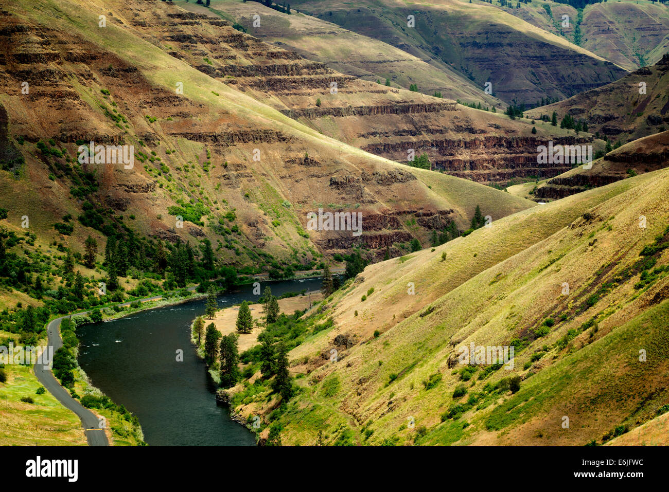 Grand Ronde Wild and Scenic River and canyon. Oregon - Stock Image