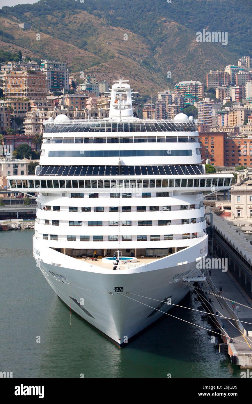 MSC Splendida a Fantasia class cruise ship owned and ...