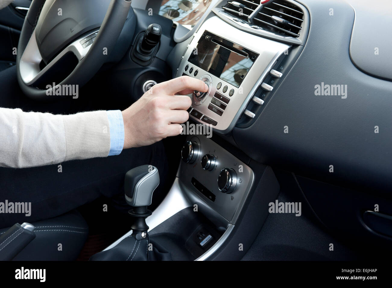 interior trim of a modern new car - Stock Image