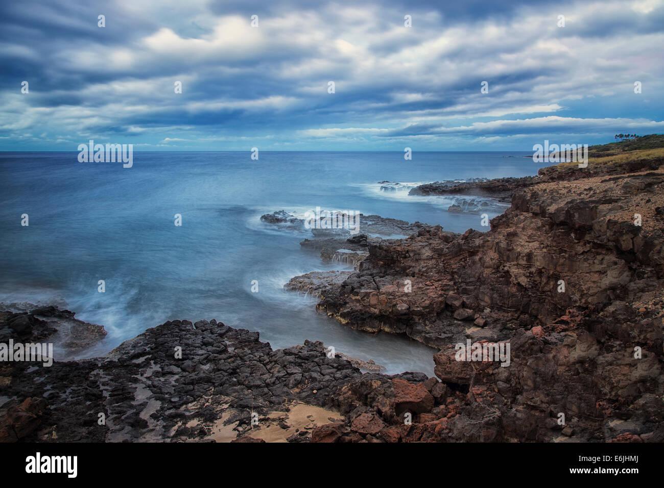 Coastline in Lanai, Hawaii - Stock Image