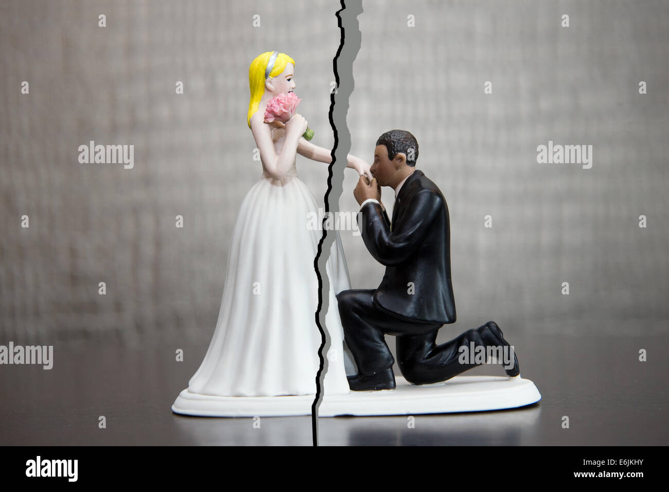 Divorce of a married couple - Stock Image