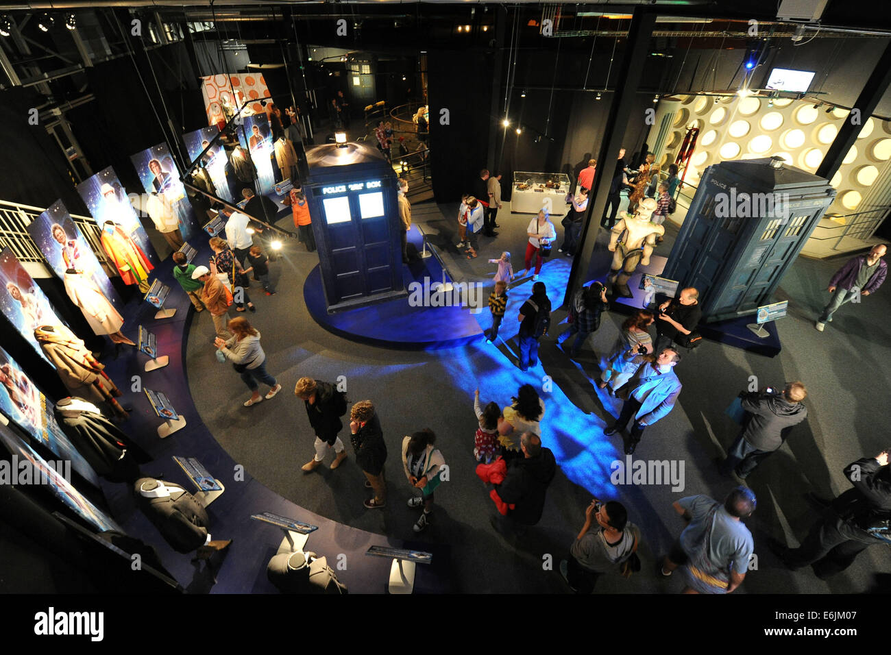 Doctor Who Experience exhibition centre at Cardiff Bay, South Wales - Stock Image