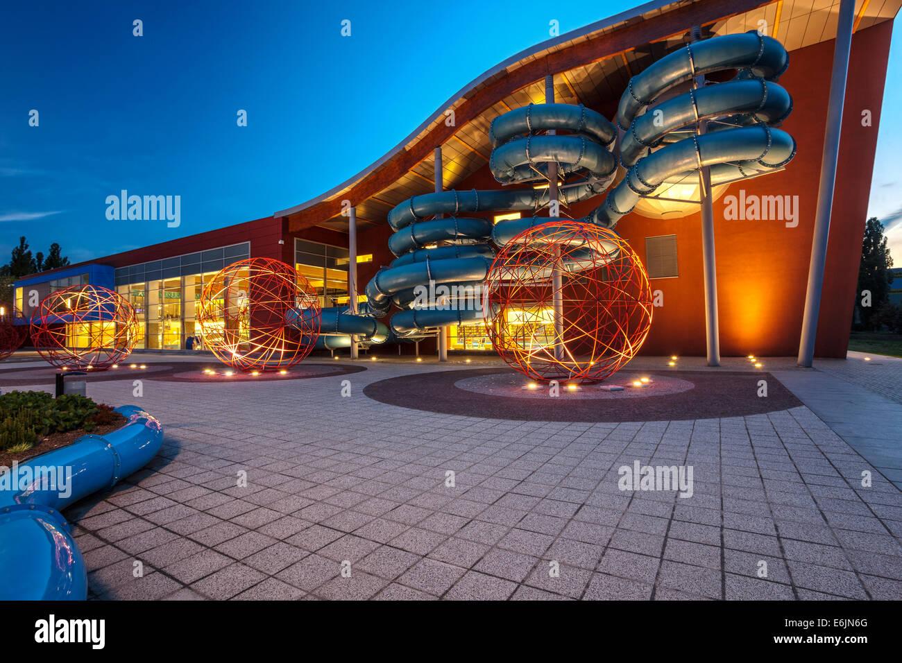 Olympic swimming pool in Olsztyn Poland - Stock Image
