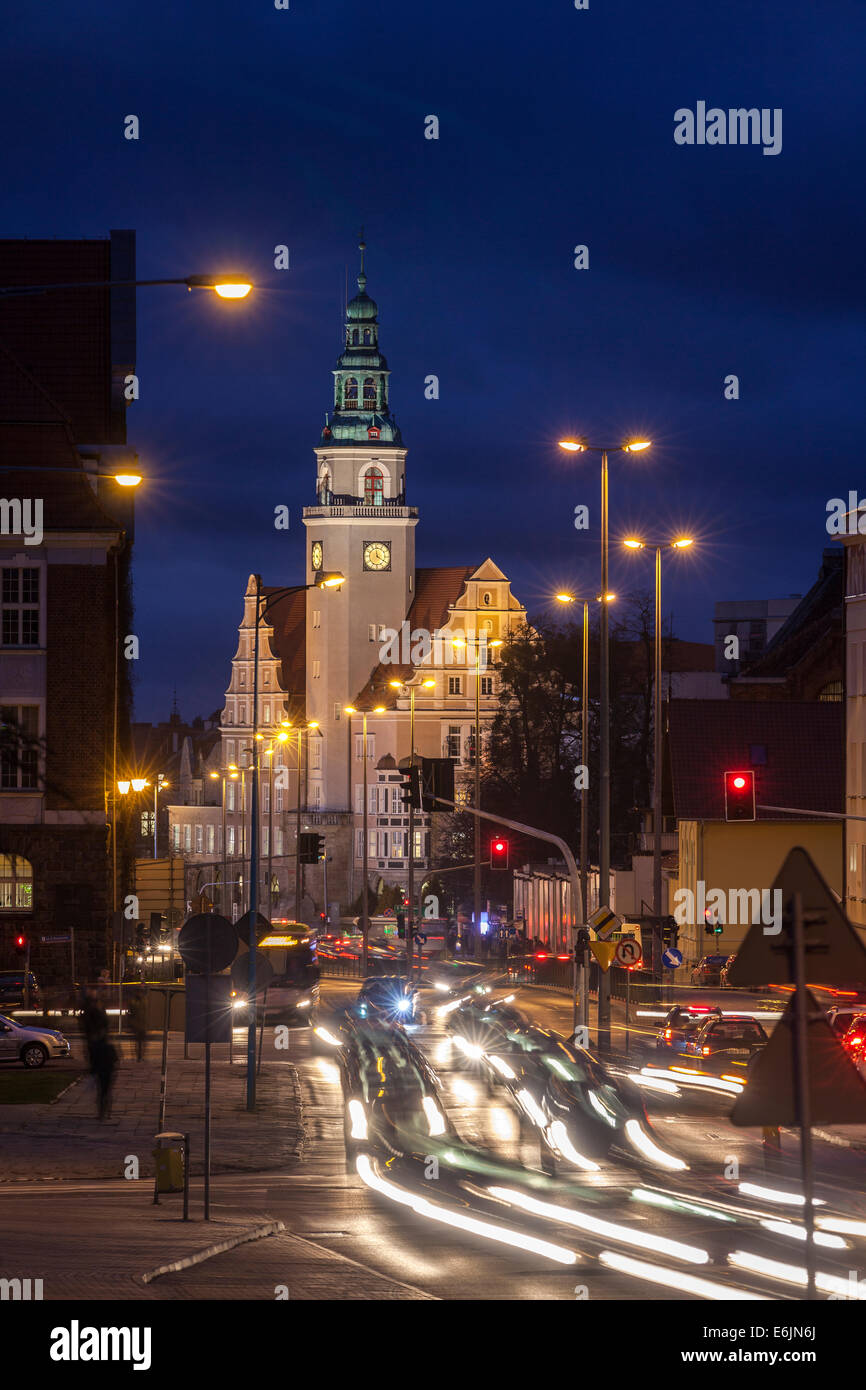 The Town Hall in Olsztyn Poland - Stock Image