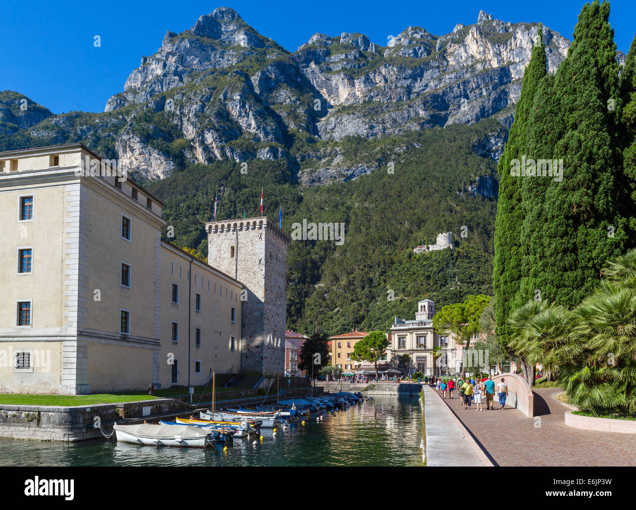The Rocca (Castle) now the Museo Civico, Riva del Garda, Lake Garda, Trentino-Alto Adige, Italy - Stock Image
