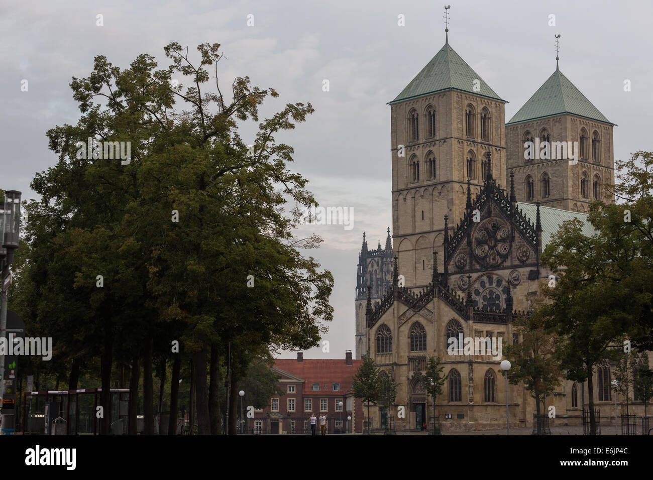 The Dom (cathedral) in Münster in NRW, Germany - Stock Image