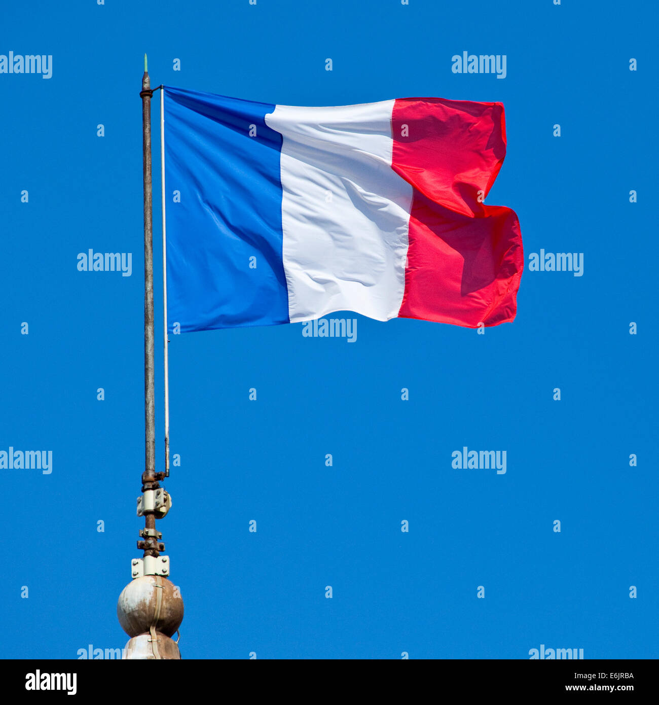 The French flag. Stock Photo