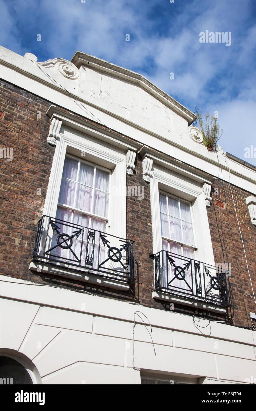 Balcony Design London: Wrought Iron Railing London Stock Photos & Wrought Iron