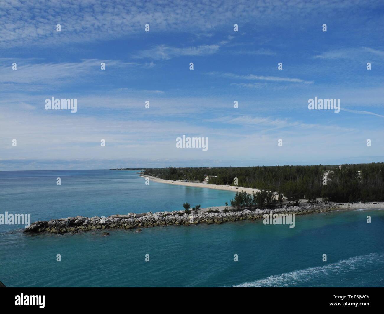 Sandbar leaving the Bahamas - Stock Image