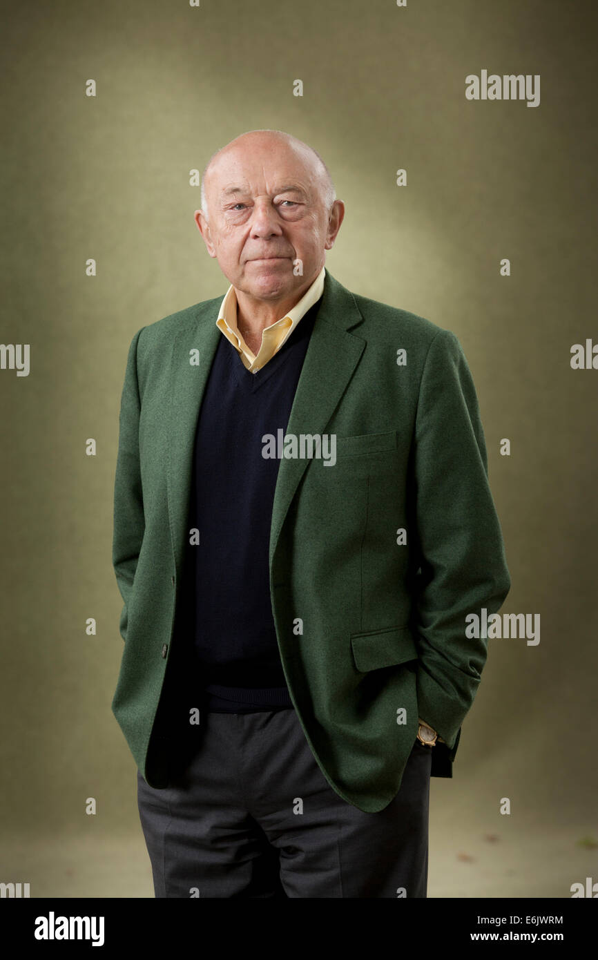 Edinburgh, Scotland, UK. 25th August, 2014. Sir John Tusa, a British arts administrator, and radio and television - Stock Image