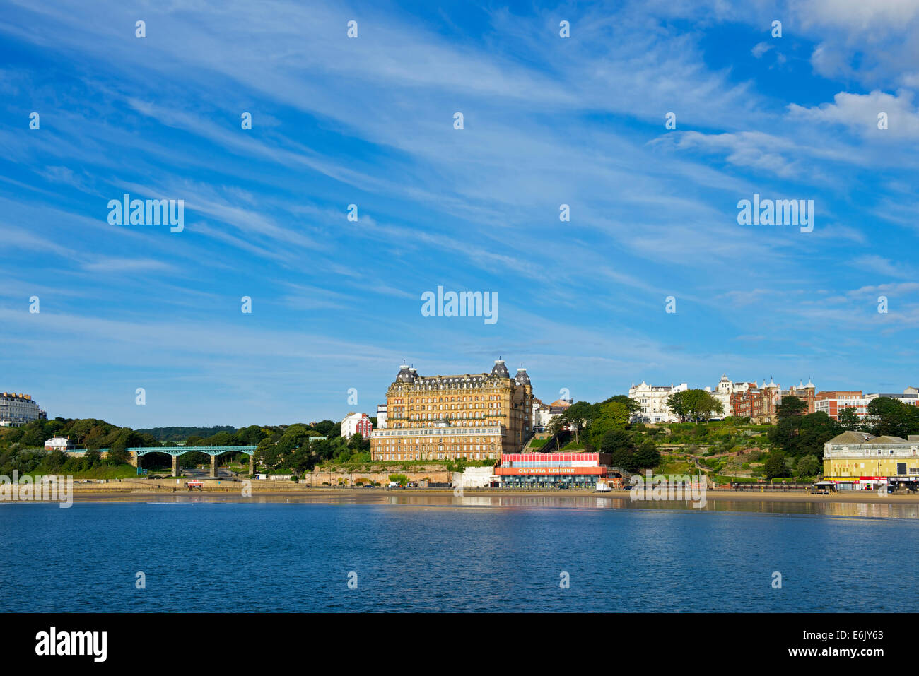 The Grand Hotel, Scarborough, North Yorkshire, England UK - Stock Image