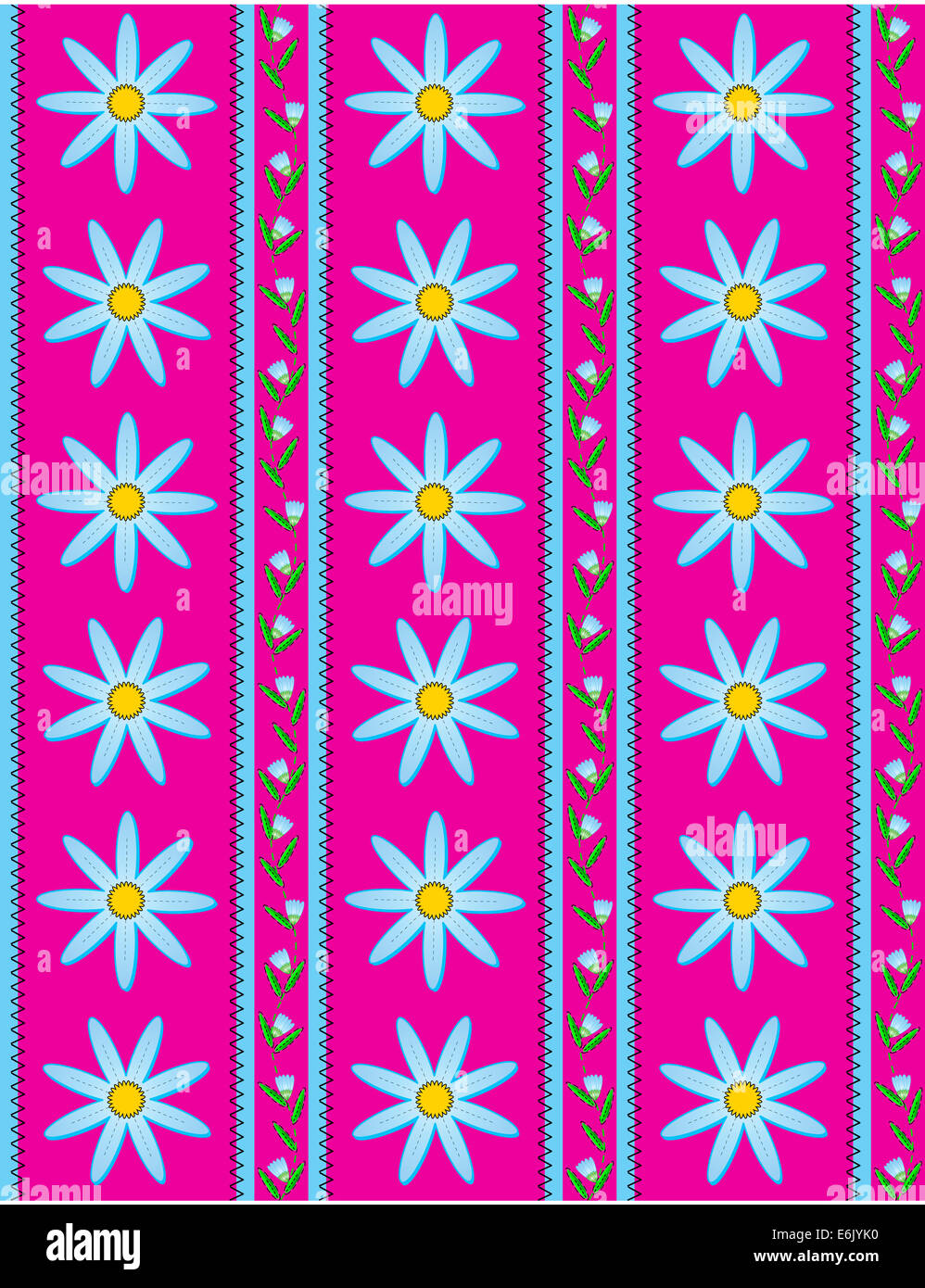 Jpg Pink Striped Wallpaper Background With Blue Flowers Bud Vine