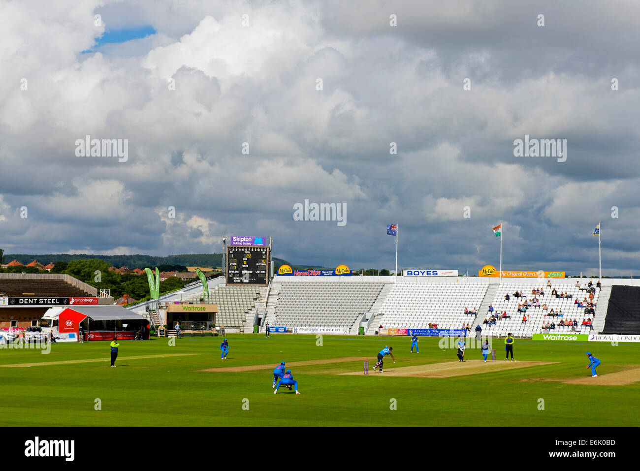 Women's international one-day cricket match between England and India, Scarborough, North Yorkshire, England - Stock Image