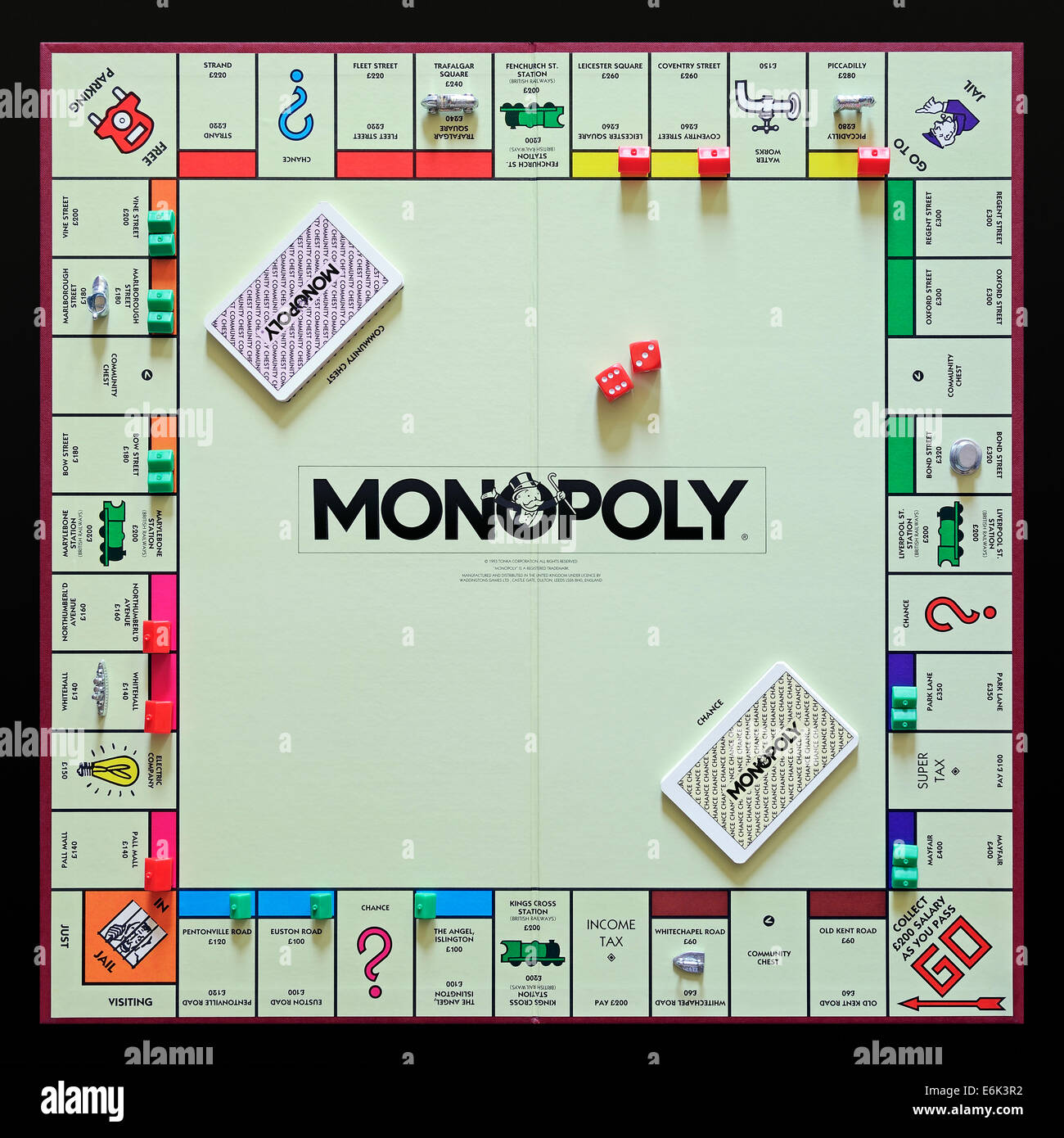 Monopoly, the original UK version of the popular property trading board game. - Stock Image