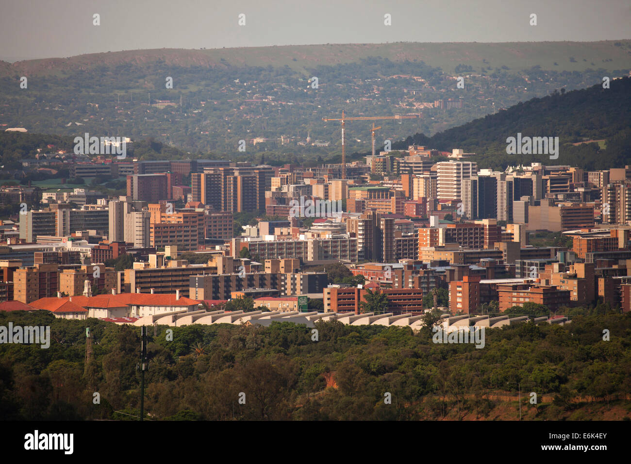 View of the city of Pretoria, Gauteng, South Africa - Stock Image