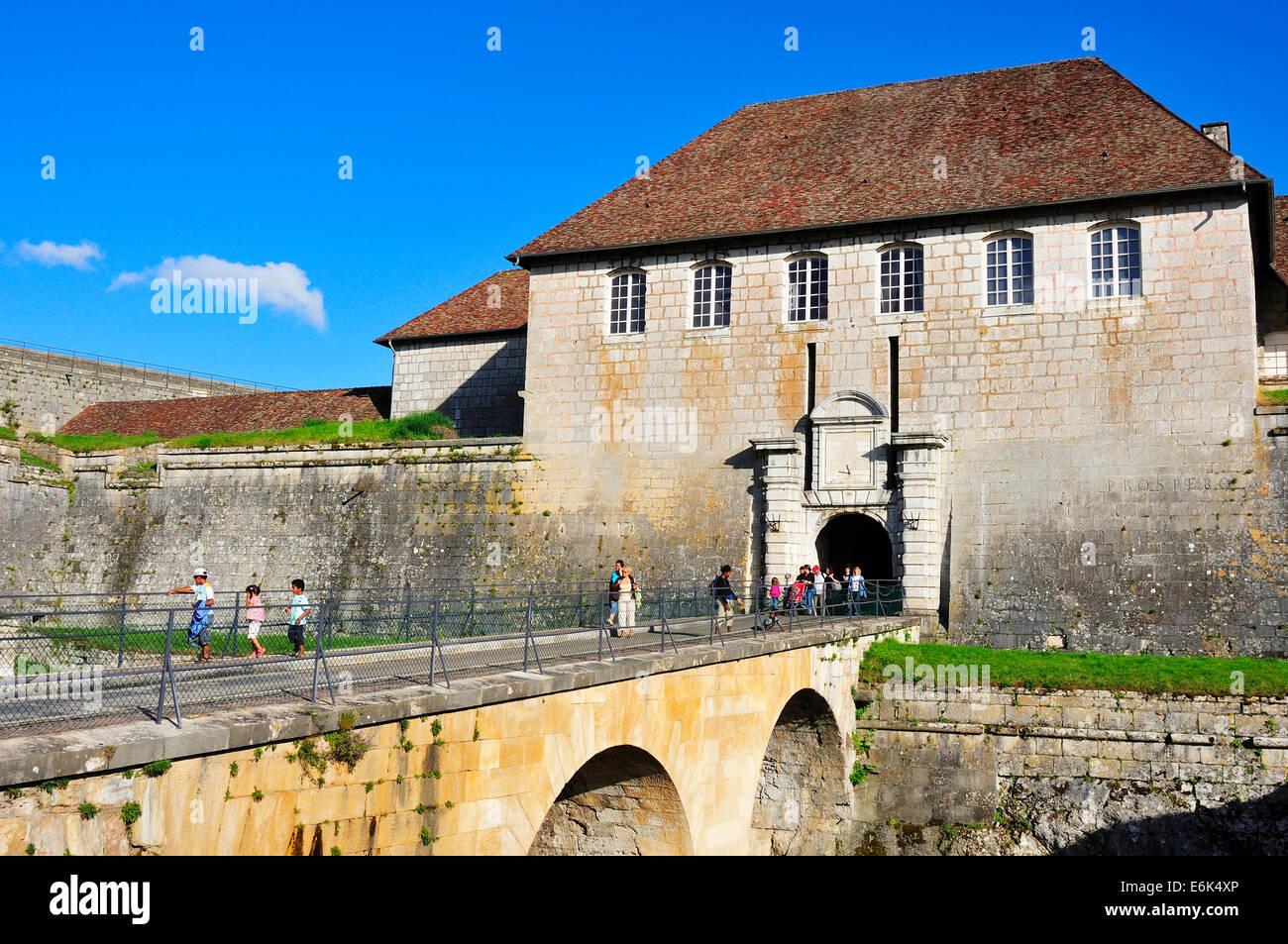 Besançon Citadel, one of the Vauban fortifications, UNESCO World Heritage Site, Besançon, Département - Stock Image