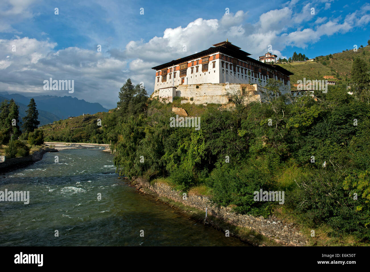 Rinpung Dzong, Drukpa Kagyu, Buddhist monastery and fortress, Paro district, Bhutan - Stock Image