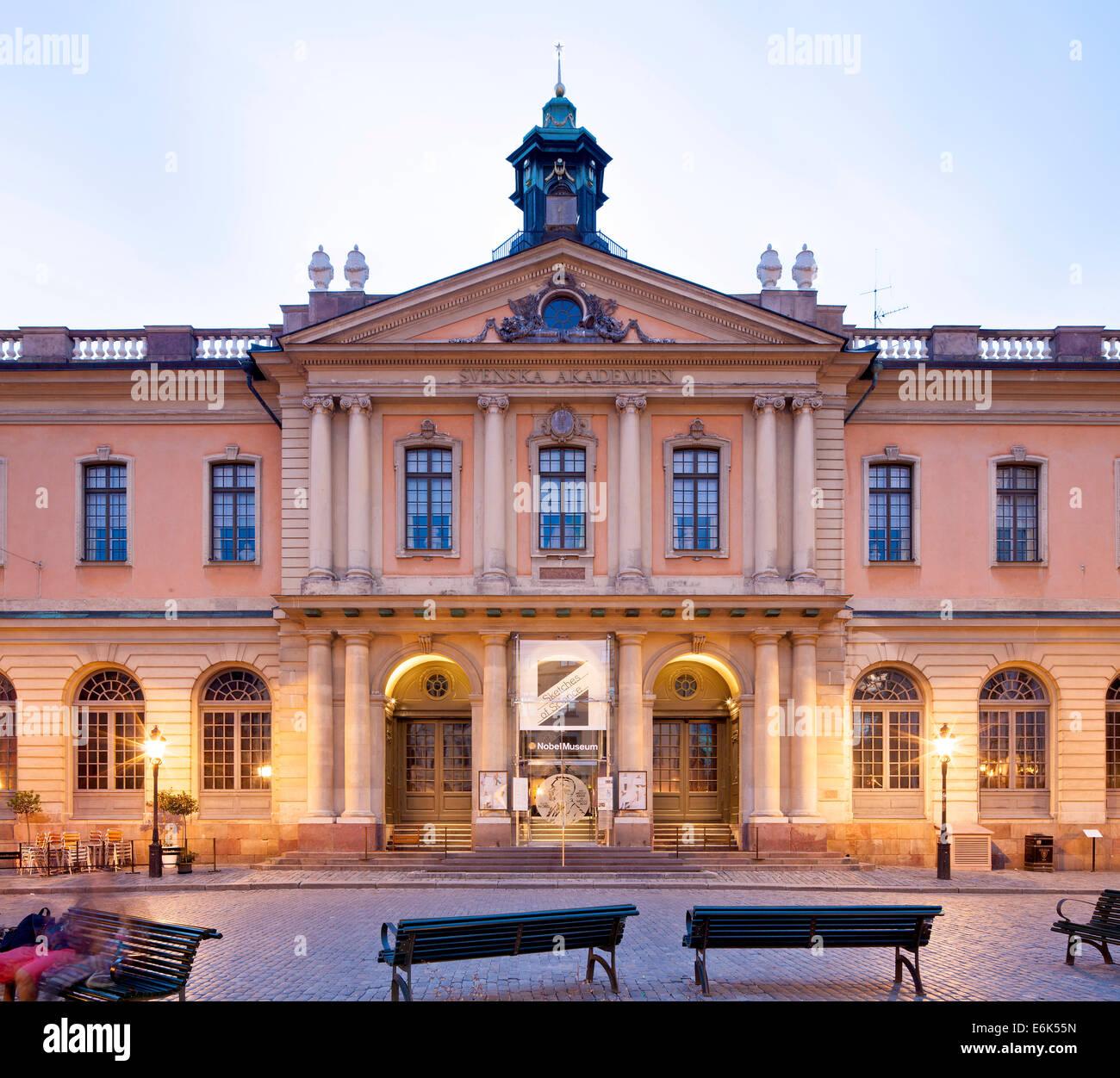 Swedish Academy of Sciences, Svenska Akademien, former stock exchange building, Börshuset, Stortorget square, - Stock Image