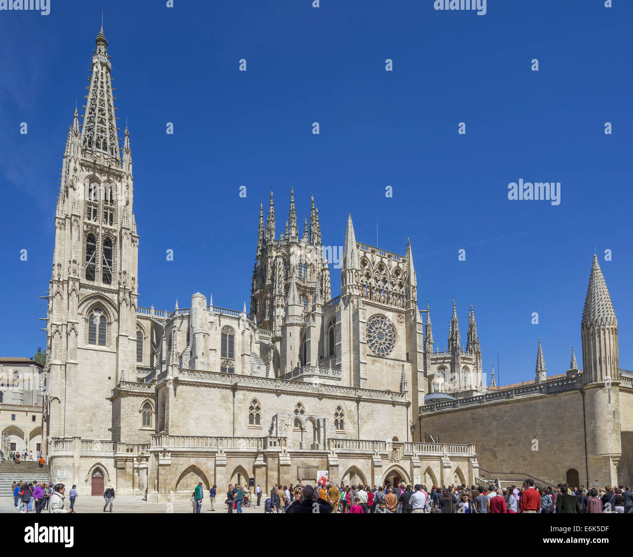 Burgos Cathedral, Burgos, Castile and León, Spain - Stock Image