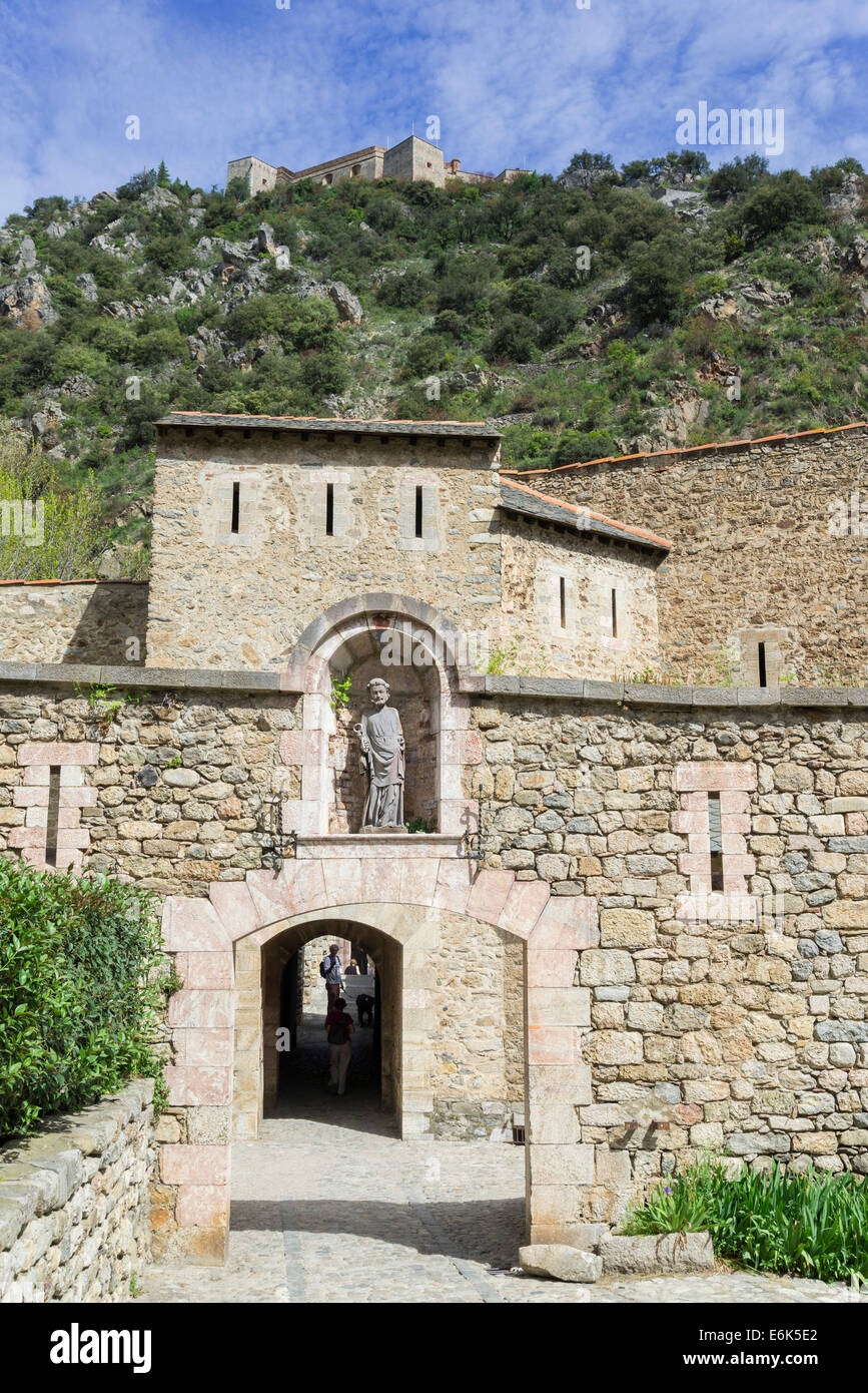 Part of the fortification of the city, Villefranche-de-Conflent, Languedoc-Roussillon, France - Stock Image