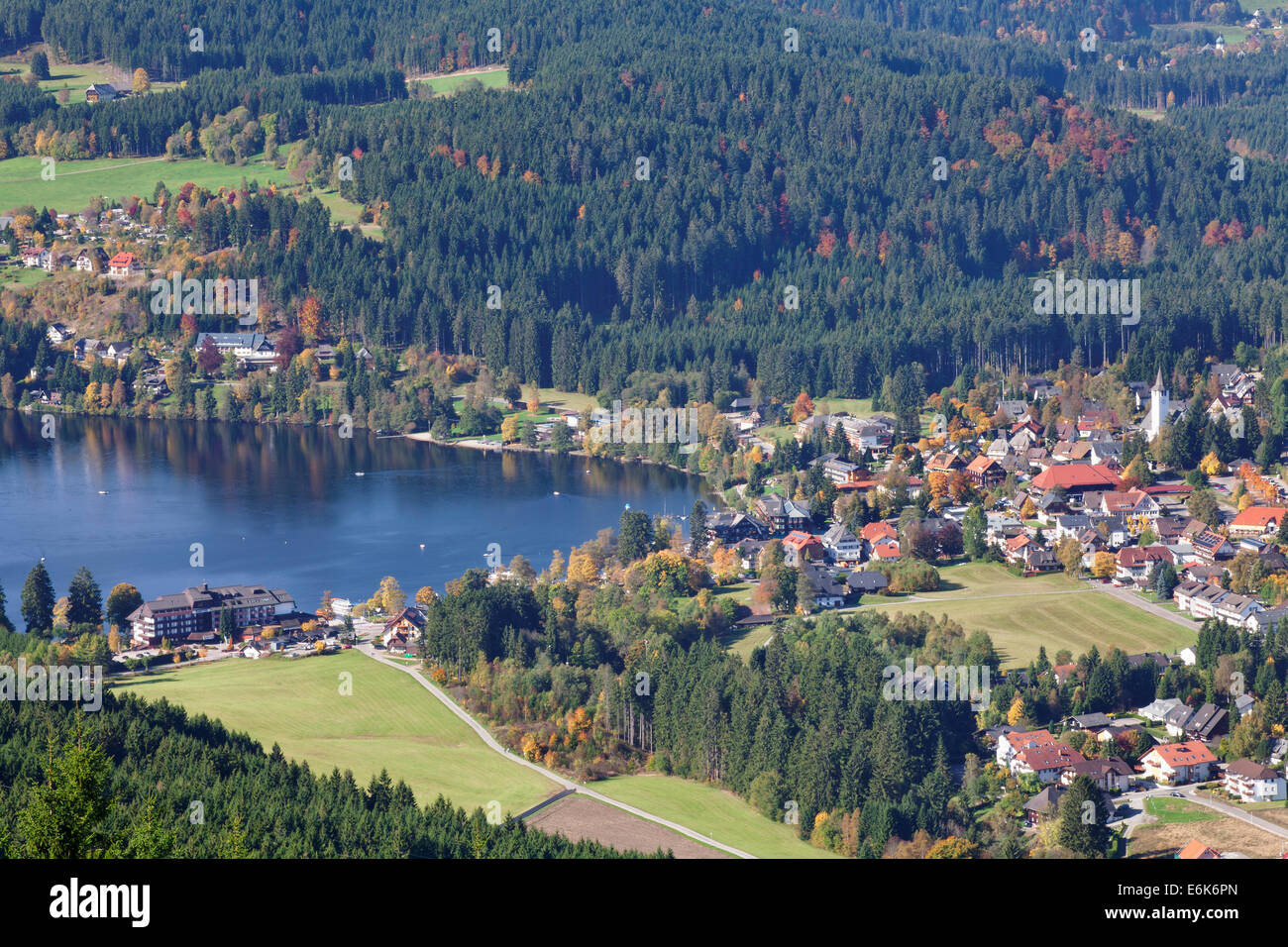 Titisee Lake In Autumn Titisee Neustadt Black Forest Stock Photo Alamy