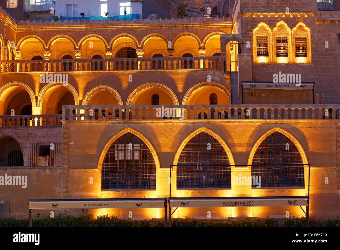Mardin Museum, Mardin, Southeastern Anatolia Region, Anatolia, Turkey - Stock Image