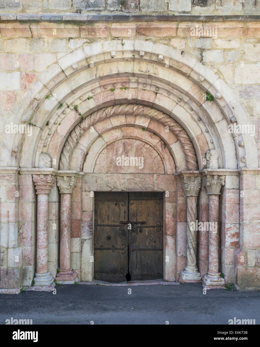 Church of Saint-Jacques, Villefranche-de-Conflent, Languedoc-Roussillon, France - Stock Image
