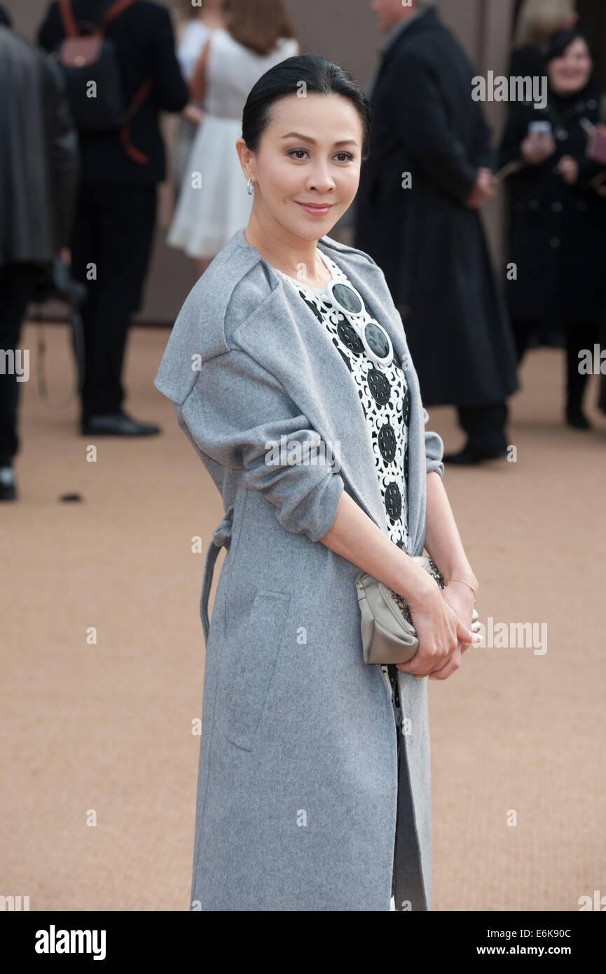 a050982c75df LFW London Fashion Week  Burberry Prorsum A W held at Kensington Gardens -  Arrivals. Featuring  Carina Lau Where  London