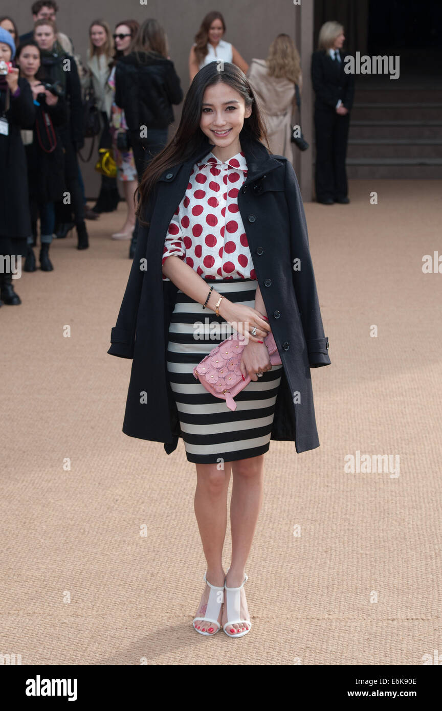 9938808bf30f LFW London Fashion Week  Burberry Prorsum A W held at Kensington Gardens -  Arrivals. Featuring  Angelababy