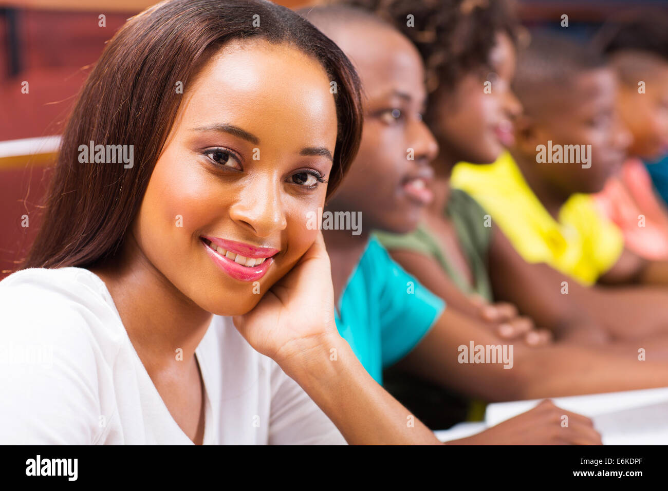 Beautiful Female African American University Student In