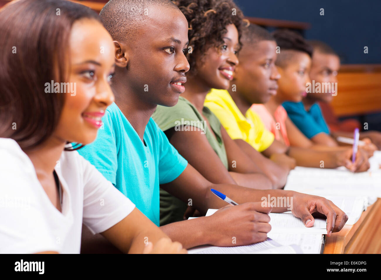 Group Of Young African American College Students In Lecture