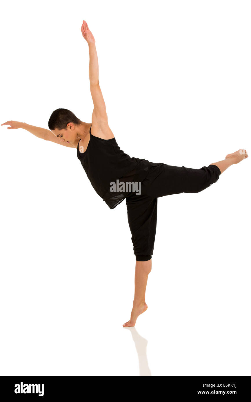 professional ballet dancer isolated on white - Stock Image