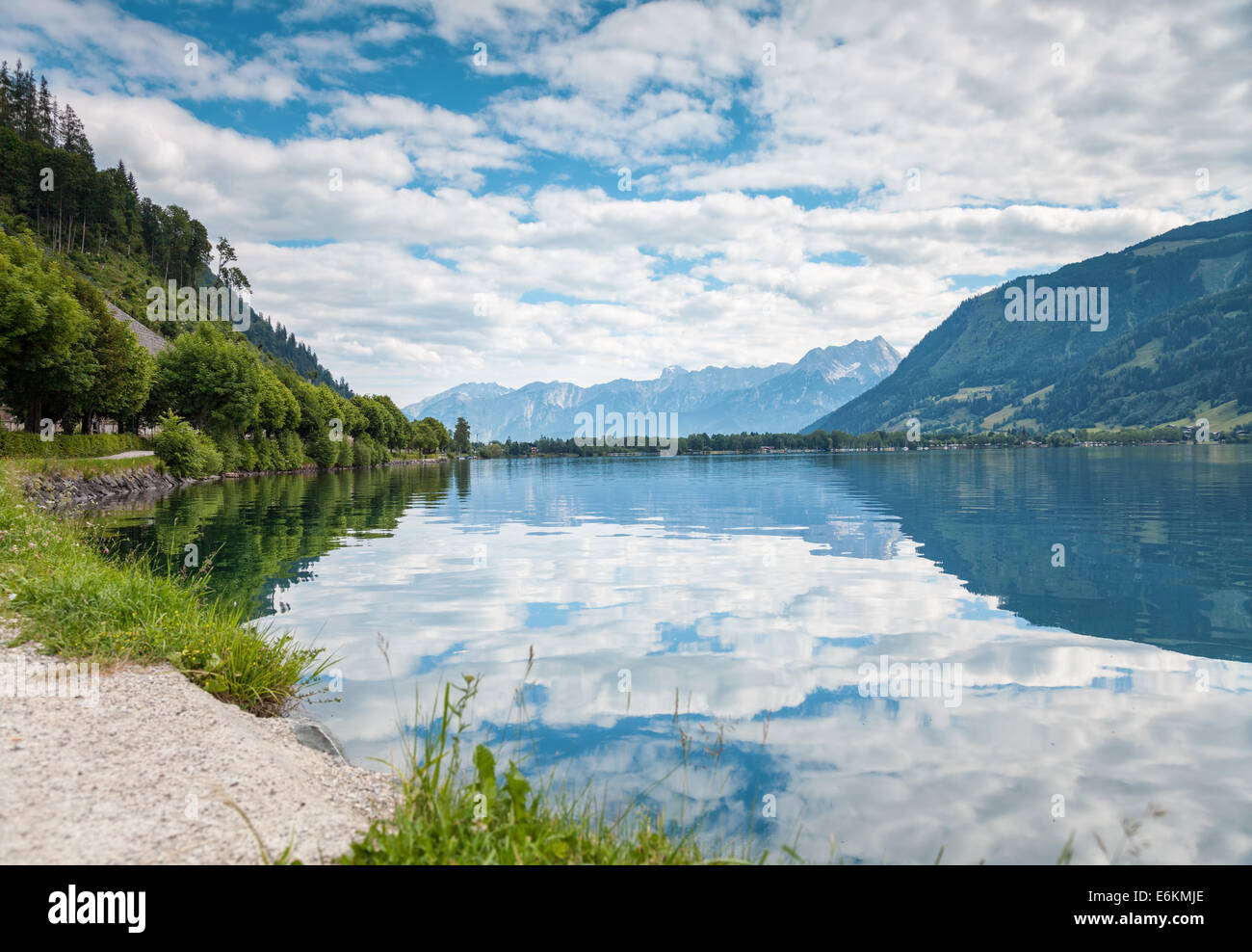 Zell Am See lake in Austria in the summer Stock Photo