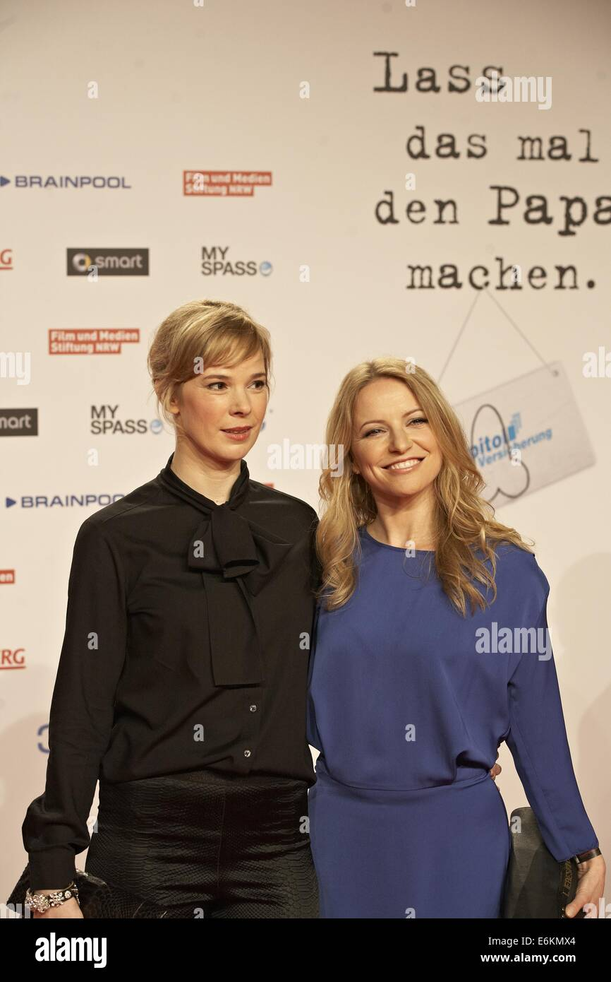 Premiere of 'Stromberg - Der Film' at Cinedom.  Featuring: Milena Dreißig,Diana Staehly Where: Cologne, Germany Stock Photo