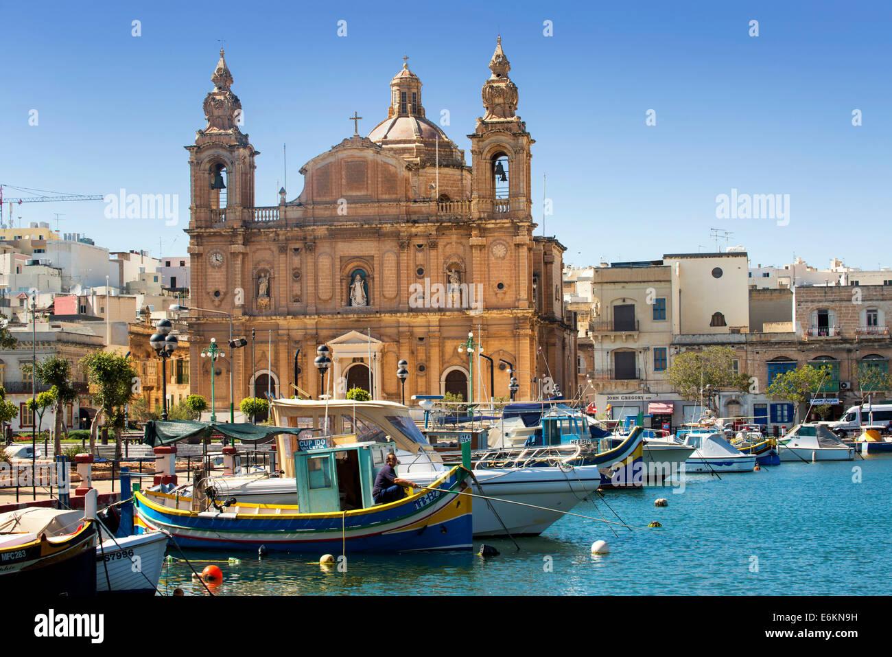 Church of Sultana tal-paci, St Joseph's, Msida Creek, Valletta, Malta - Stock Image