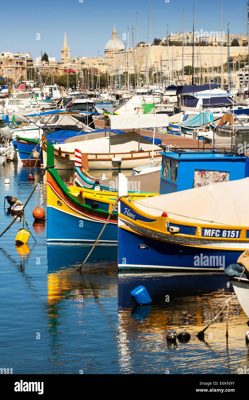 Msida Creek, Valletta, Malta - Stock Image