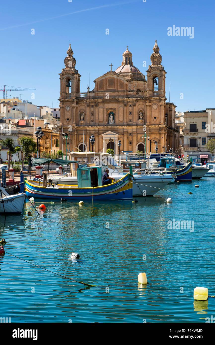 Church of Sultana tal-paci, St.. Joseph's, Msida Creek, Valletta, Malta - Stock Image
