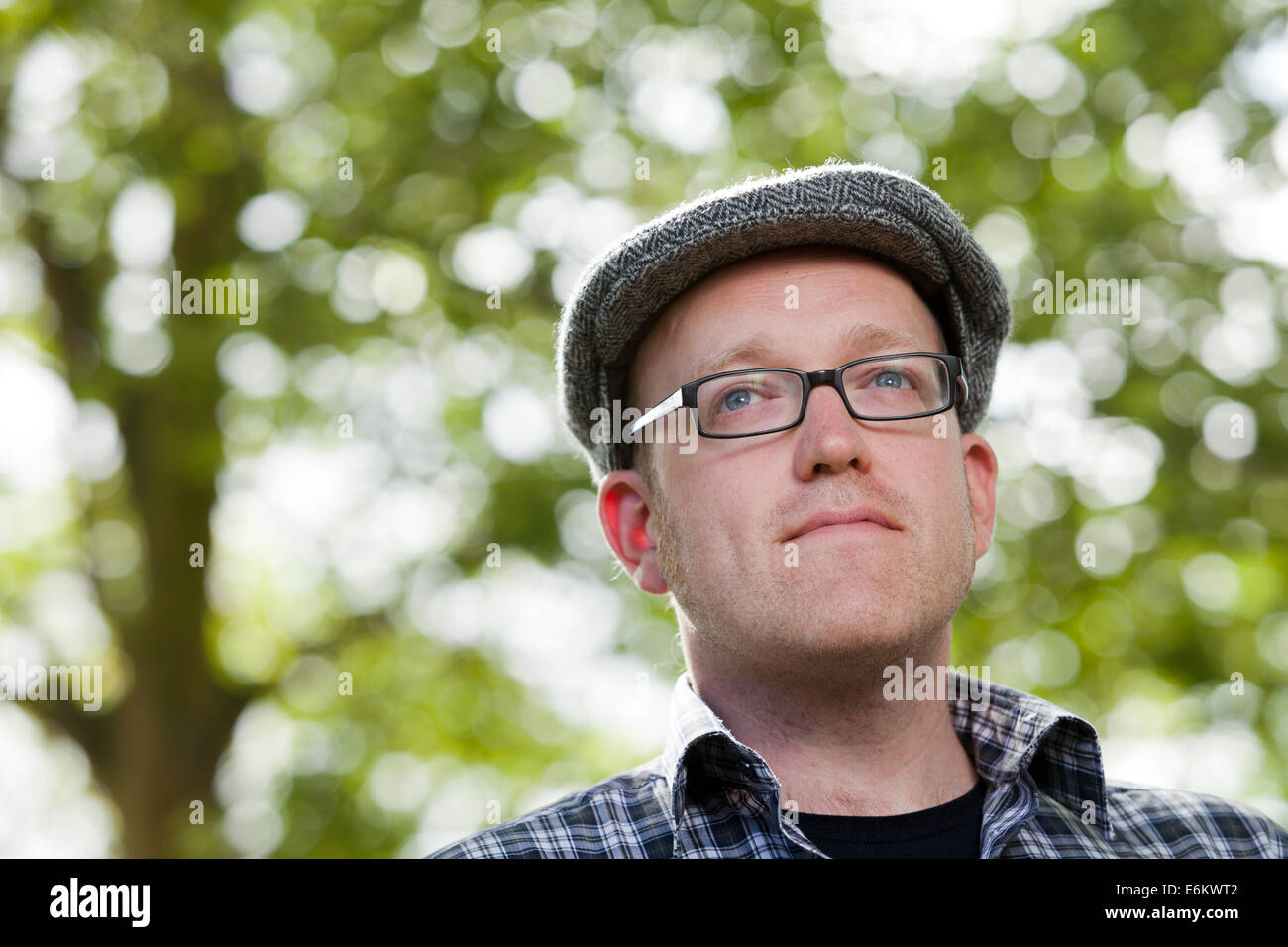 Edinburgh, Scotland, UK. 24th Aug, 2014. Neill Cameron, cartoonist and writer, at the Edinburgh International Book - Stock Image
