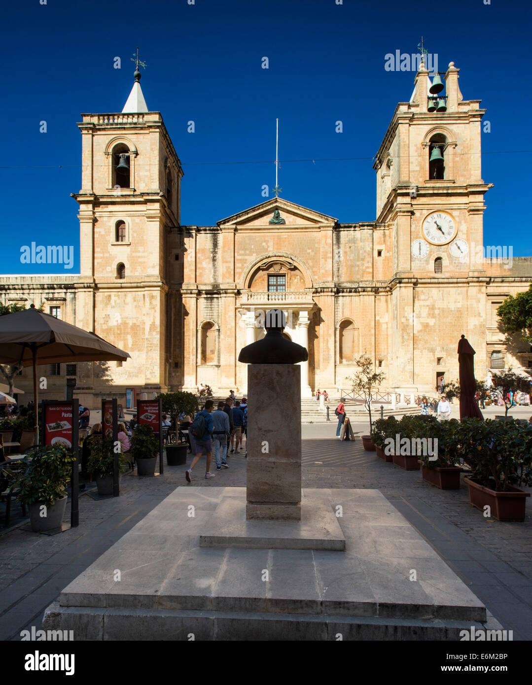 Valletta, Malta Malta ,St. Johns Co. Cathedral ,Valletta - Stock Image
